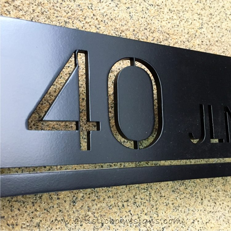 CNC Laser Cut Metal House Number Artistic Home Signs Made In Malaysia HomeDEC KLCC