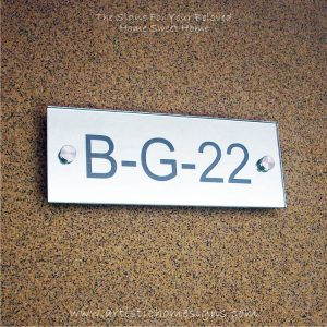 Contemporary Rectangle Mirror Etching Sign B-G-22