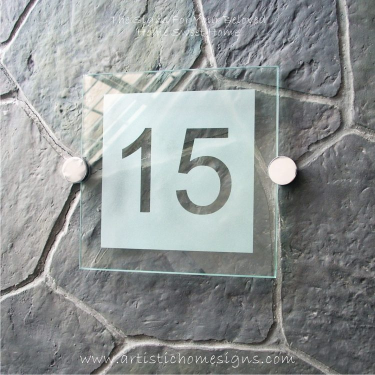 Etching Background Glass Sign 15