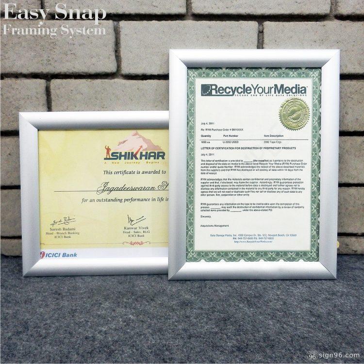 A4 Easy Snap Aluminium Framing System 05