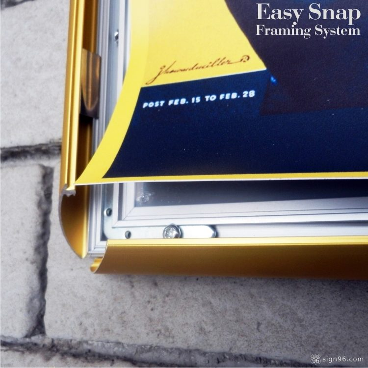 Gold Easy Snap Aluminium Framing System 09