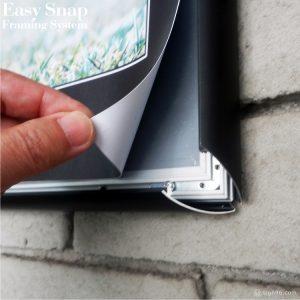 Black Easy Snap Aluminium Framing System 15