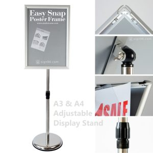 A3 Easy Snap Poster Frame Display Stand 07