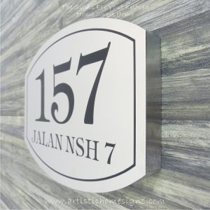 Elliptical Trim Etching House Sign 157