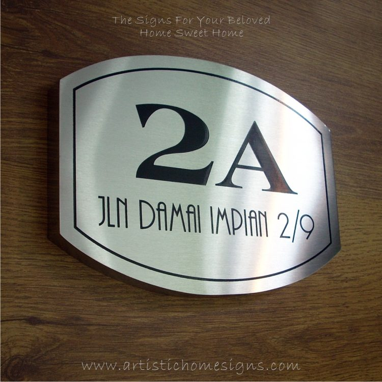 Elliptical Trim Etching House Sign 2A