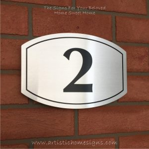 Elliptical Trim Etching House Sign 2