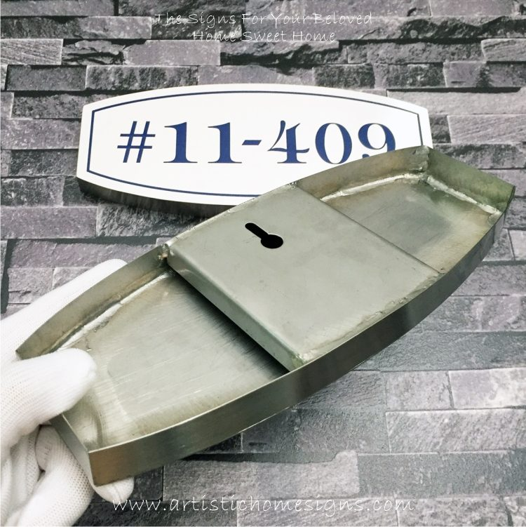 Stainless Steel Etching House Signs Unit Number
