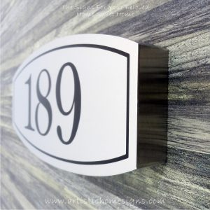Stainless Steel Etching House Signs 189