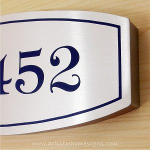 Stainless Steel Etching House Signs 11-452