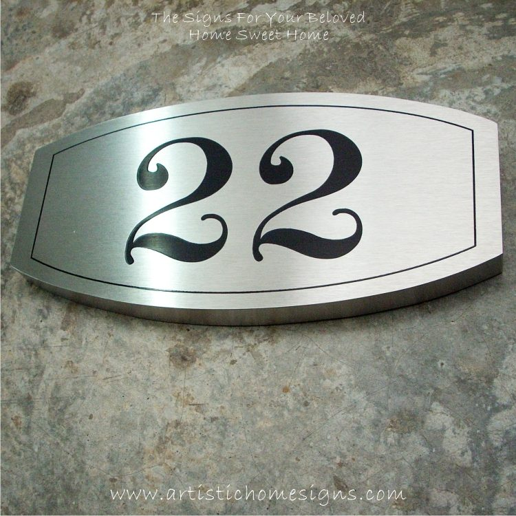 Stainless Steel Etching House Signs 22
