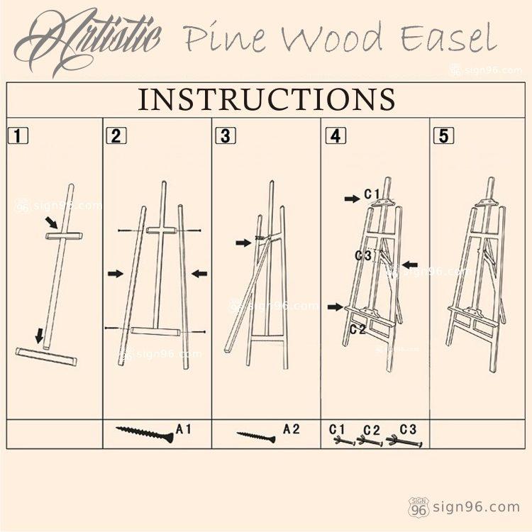 FWE-001 Pine Wood Easel 04