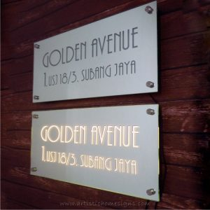 Glass Mirror Etching House Address Signs 03