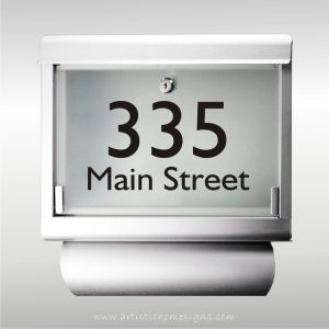 MLB-301T Galvanized Steel Inifiniti Mailbox with House Address