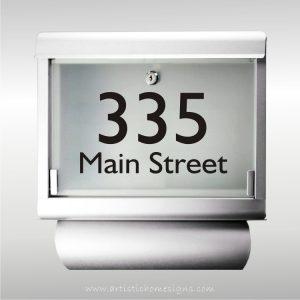 MLB-301T Galvanized Steel Inifiniti Mailbox with House Address