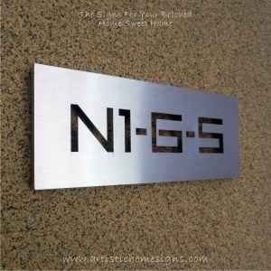 S/S Laser Cut Thru Sign N1-6-5