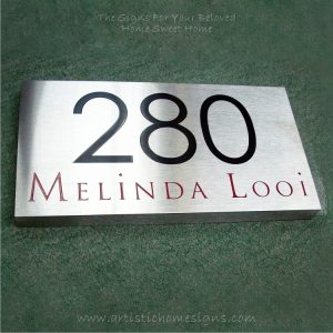 Rectangle Etching House Signs Color Letter 280