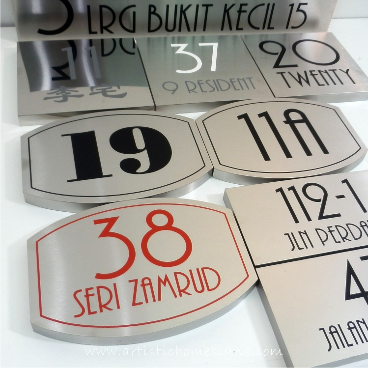 S/S Modern Etching House Sign
