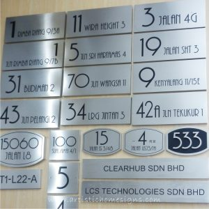 Etching Black SS House Sign