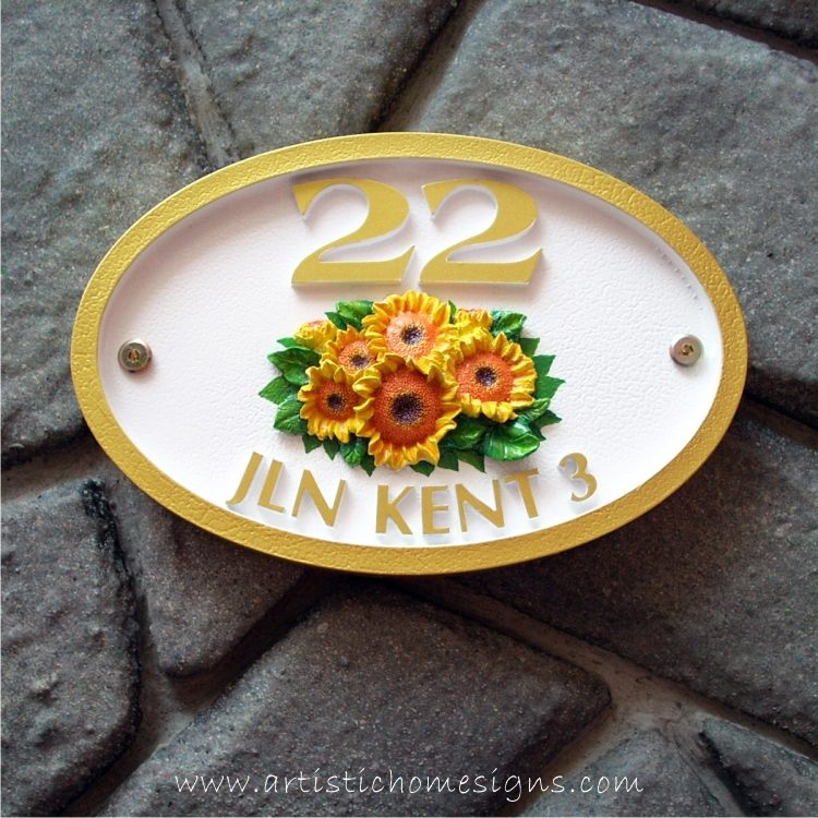 Unique Hand-painted Oval Artistic Home Signs Made In Malaysia