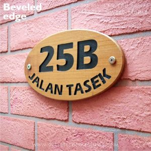 WDO-145 Wooden Sign Black Letters 25B