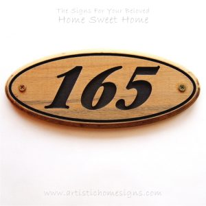 WDO-090 Oval Wooden Border House Sign 165