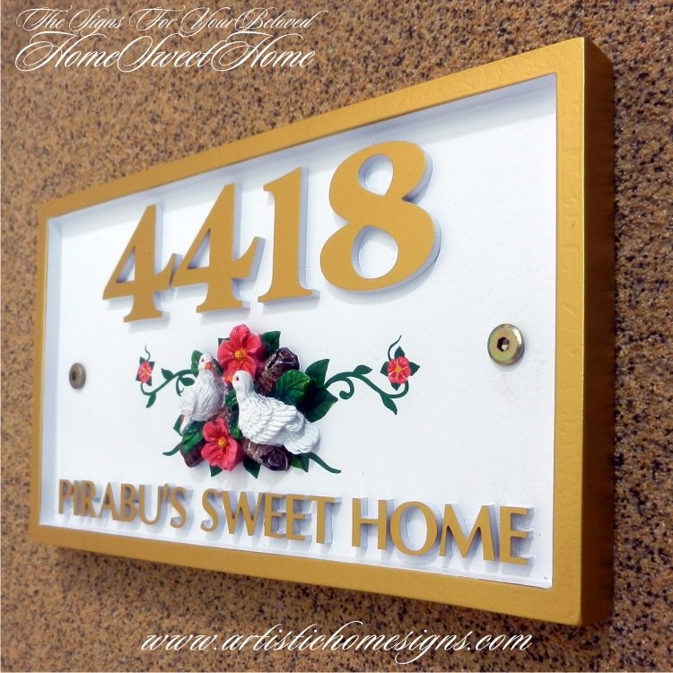 REC-001 Rectangle Artistic Home Signs Made In Malaysia
