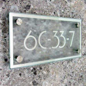 Rectangle Chrome Mirror Border With Sandblast Frosted Finishing Sign 6C-33-7