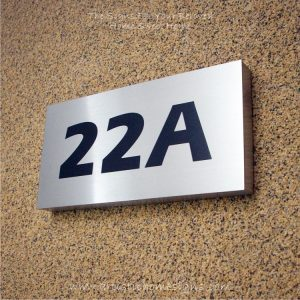 Rectangle Etching House Signs Black Letters 22A