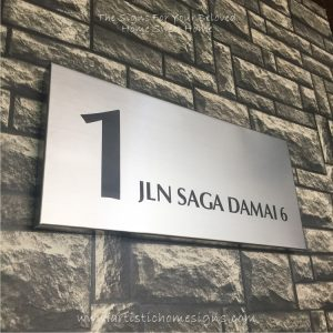 Rectangle Etching Black Letters House Signs 1