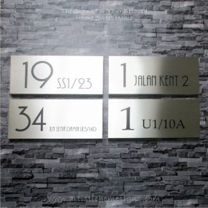 Rectangle Etching House Signs 19