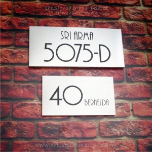 Rectangle Etching House Signs 5075