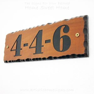 WDR-090 Rectangle Wooden House Sign Black Letters 4-4-6