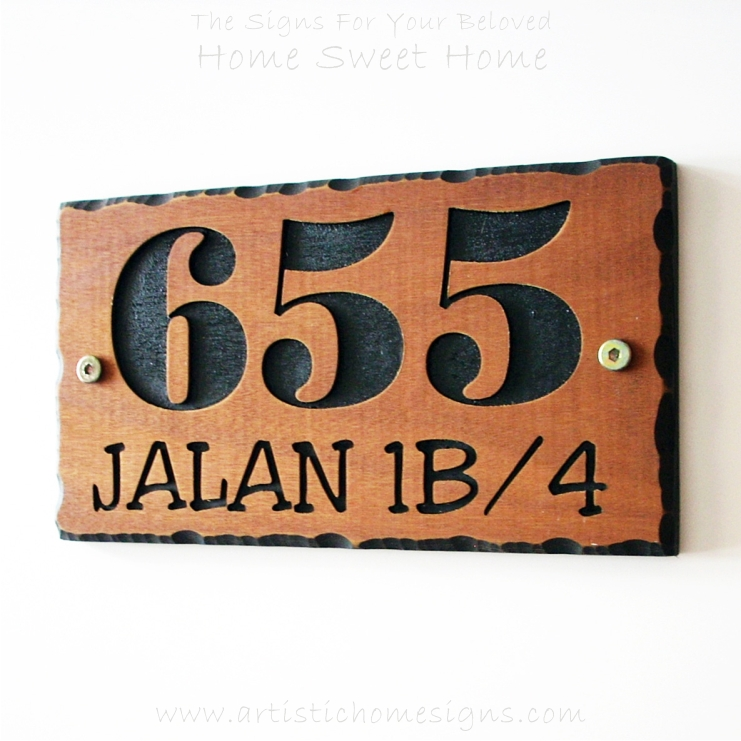 WDR-145 Rectangle Wooden House Sign 655