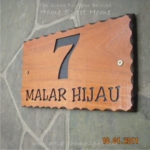 WDR-145 Rectangle Wooden House Sign 7