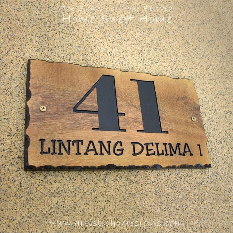 WDR-145 Rectangle Wooden House Sign 41
