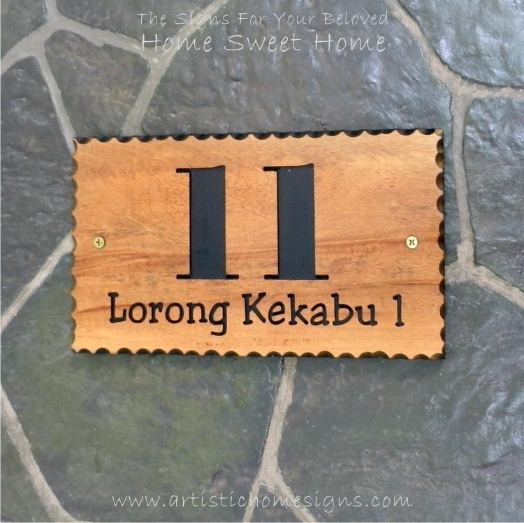 WDR-145 Rectangle Wooden House Sign 11