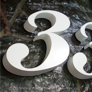 Snow White Weather Resistant Modern House Numbers 33 03