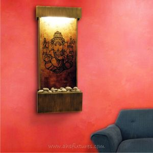 WWG-410 Ganesh Art Glass Wall Fountain 01