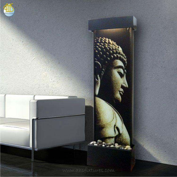 WWG-415 Imprint Buddha Art Glass Wall Fountain 01