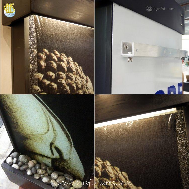 WWG-415 Imprint Buddha Art Glass Wall Fountain 03
