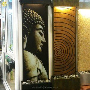 WWG-415 Imprint Buddha Art Glass Wall Fountain 04