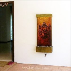 WWG-615 Ganesh Art Glass Wall Fountain 04
