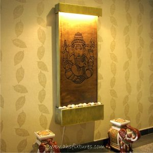 WWG-615 Ganesh Art Glass Wall Fountain 05
