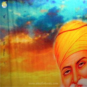 WWG-610 Guru Nanak Art Glass Wall Fountains 02