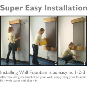 Wall Fountain Easy Installation