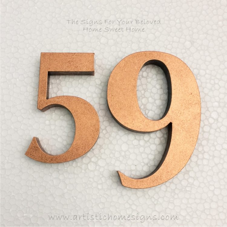 Weather Resistant House Numbers - Antique Copper 02