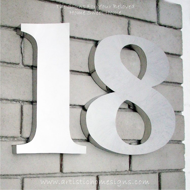 Weather Resistant House Numbers - Bold Font 01