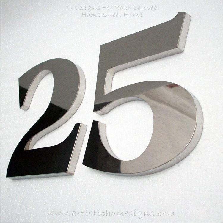 Weather Resistant House Numbers - Bold Font 25