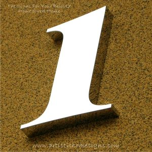 Weather Resistant House Numbers - High Gloss Polish Finished 1