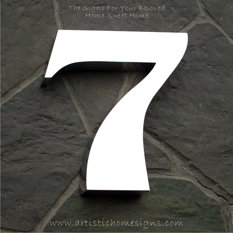 Weather Resistant House Numbers - High Gloss Polish Finished